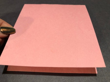 Guitar Heartstrings Card - fold pink paper in half