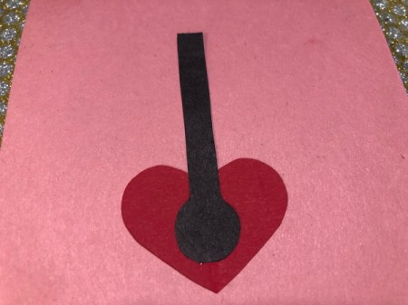 Guitar Heartstrings Card - glue neck in place