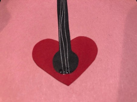 Guitar Heartstrings Card - dab on some glue at the bottom of the neck and add three strings, allow to dry