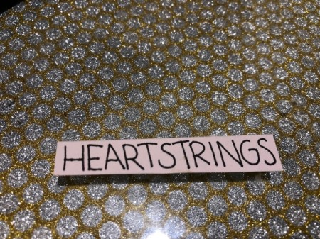 Guitar Heartstrings Card - write message on white paper and cut out and glue to the top and bottom of the card