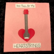 Guitar Heartstrings Card - finished card