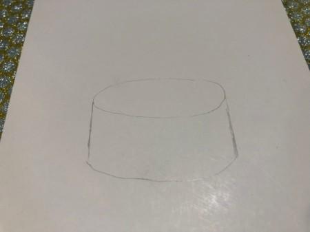 Drum Beat Card - complete drum sketch