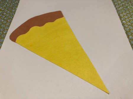 Pizza My Heart Card - cheese and crust against the white background