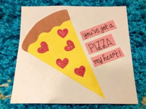 Pizza My Heart Card - front of the finished card