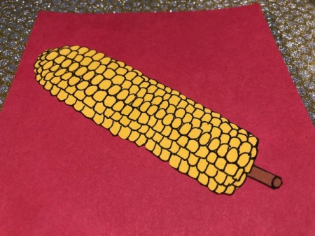"""""""I Like You Elote"""" Multi-occasion Greeting Card  - glue skewer and ear of corn onto the card"""