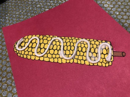 """""""I Like You Elote"""" Multi-occasion Greeting Card - allow to dry, weigh down corn if necessary"""