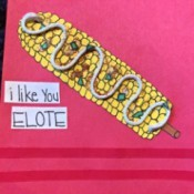 """I Like You Elote"" Multi-occasion Greeting Card - finished card"