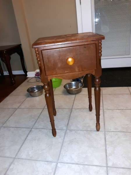 Identifying an Old Table - end table or nightstand with one drawer