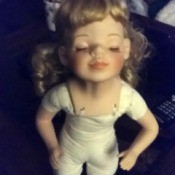Identifying a Porcelain Doll - undressed partially porcelain doll