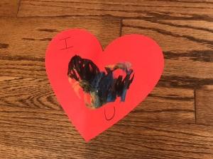 """""""I Love You"""" Toddler Artwork - finished solid card"""