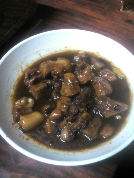 Pork Binaguongan in bowl