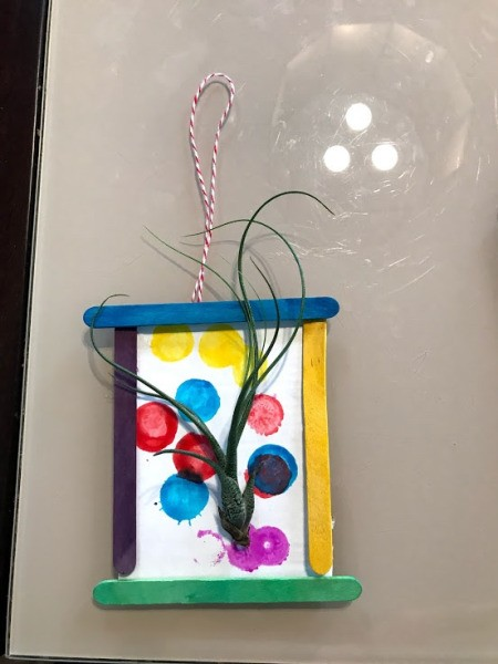Making a Hanging Air Plant Frame - add a ribbon or cord hanger if desired