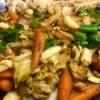 finished Napa Cabbage Stir Fry
