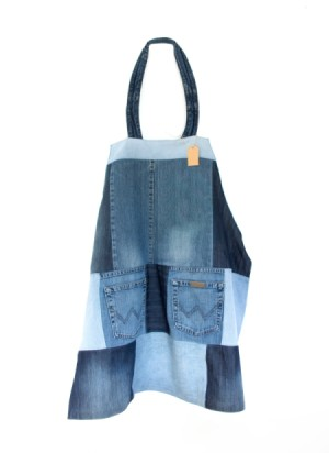 recycled jeans apron