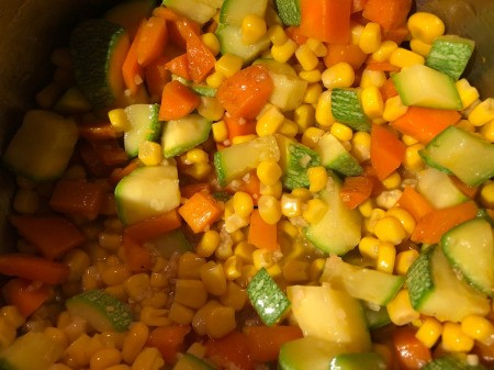 corn added to Stew