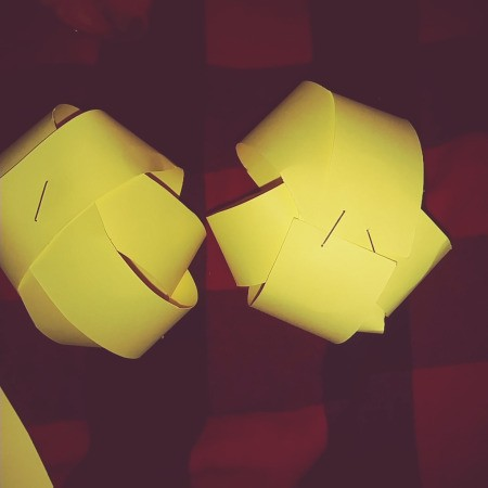 Paper Easter Bunny  - 2 balls formed