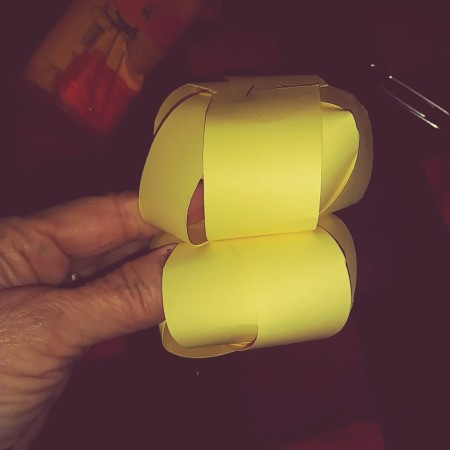 Paper Easter Bunny - clip or tape the two balls together