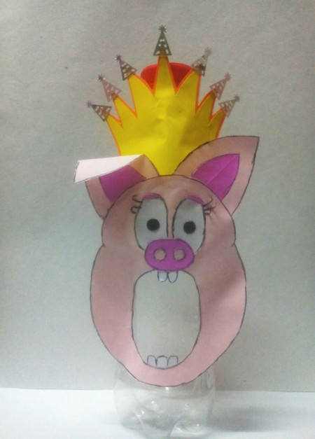 Recycled Animal Face Pencil Case - pig faced pencil case