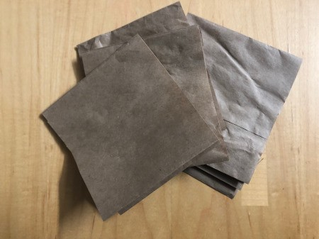 Recycled Paper Bag Doodle or Sticker Book - cut pieces of brown paper