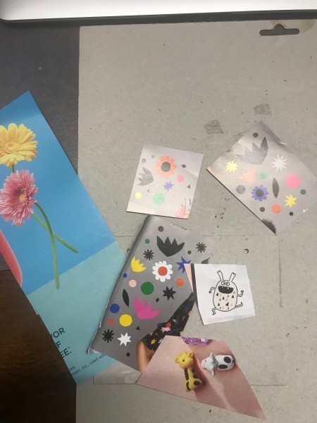 Recycled Paper Bag Doodle or Sticker Book - find images in a magazine and cut out