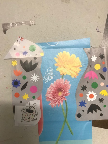 Recycled Paper Bag Doodle or Sticker Book - glue down the images