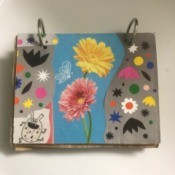Recycled Paper Bag Doodle or Sticker Book - finished doodle pad