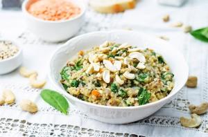 Lentil and Bean Quinoa Salad