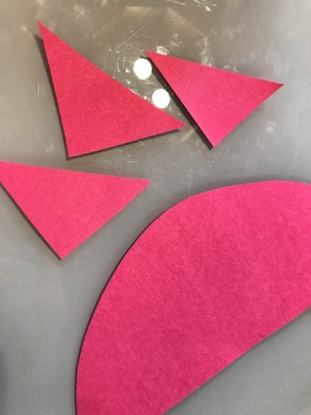 Rocket Ship Party Favor Cups - cut out a half circle and three fins