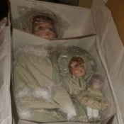 Identifying a Porcelain Doll - doll with a baby doll in the original box