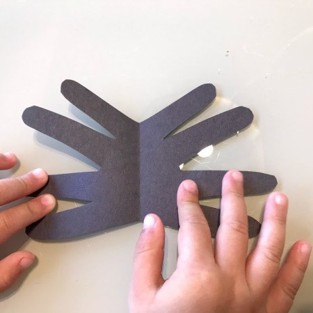 Spider Handprint Craft - open out