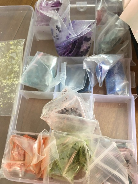 Teacup Candles - bags of color chips