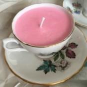Teacup Candles - closeup of a teacup candle