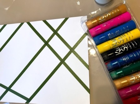 Toddler Tape Art Painting - supplies