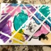 Toddler Tape Art Painting - finished child's artwork