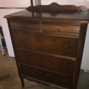 Finding the Value of Antique and Vintage Dressers - dark wood dresser