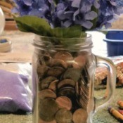 Vase of Many Colors - example with pennies
