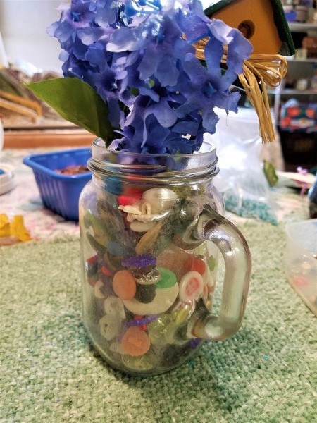 Vase of Many Colors - buttons