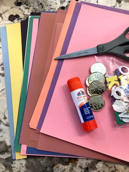 Rainbow Pot of Gold Activities  - supplies