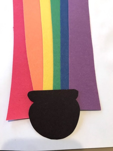 Rainbow Pot of Gold Activities - position and glue to white paper