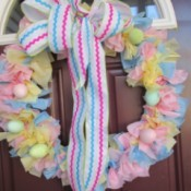 Vinyl Tablecloth Wreath