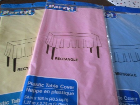 Vinyl Tablecloth Wreath - tablecloths