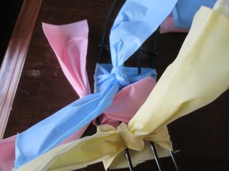 Vinyl Tablecloth Wreath
