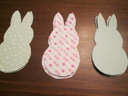 Spring Bunny Banner - trace and cut bunnies from different colors of cardstock