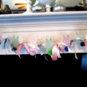 Spring Bunny Banner - banner on mantle