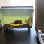 Repurposing a Candy Box Into Shadow Boxes - Mini Cooper model box