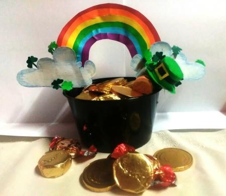 Pot of Golden Treats - candy filled pot of gold