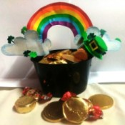 Pot of Golden Treats - candy filled pot of gold
