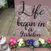 Painting Decorative Indoor/Outdoor Signs - sign in the garden