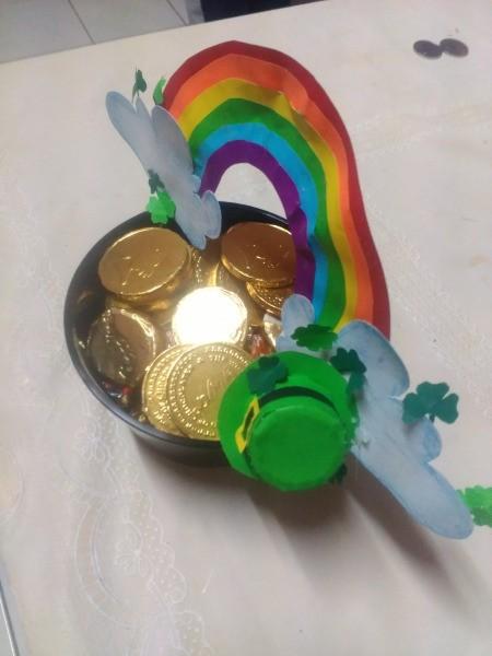 Pot of Golden Treats - put chocolate coins inside