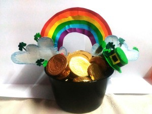Pot of Golden Treats - ready to share on St. Patrick's Day
